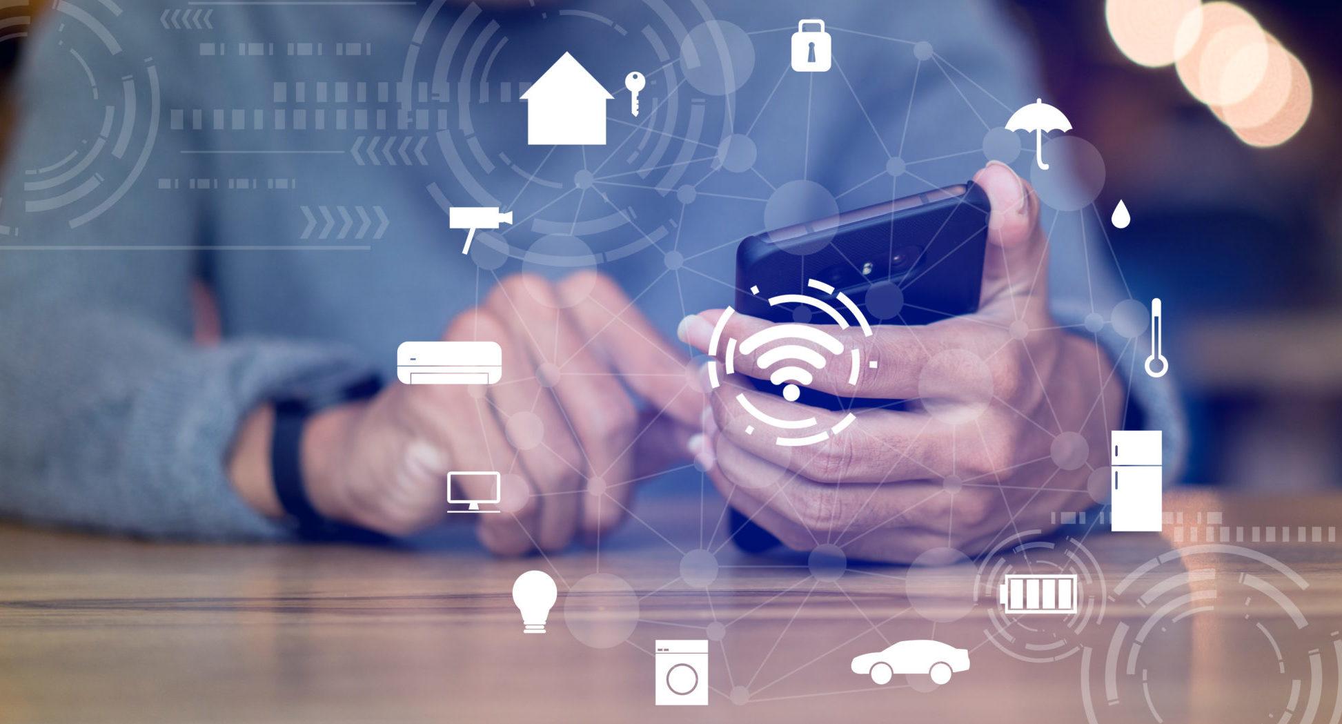 Eclairage connecté. Nouvelles technologies numériques.